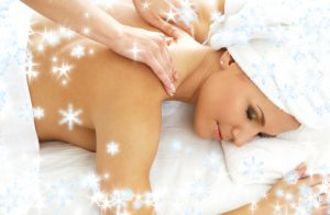 massage with snowflakes #2