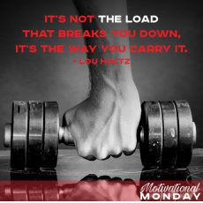 It's not the load that breaks you down, it's the way you carry it. – Lou Holtz