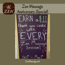 Celebrating 11 years of Zen Massage