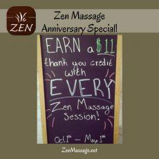 Celebrating 11 years of Zen Massage